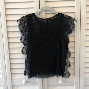 Zara TRF lace top size S